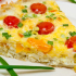 Potato quiche with cherry tomato and pepper